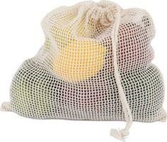 ECOBAGS Organic Net drawstring bag, medium - ECOBAGS.com.  Made from cotton, not nylon.