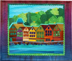 Bergen Seaside quilt by Frieda Anderson: Quilters Great Alaska Adventure, 2014 Projects