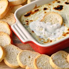 Baked Ricotta Garlic Dip
