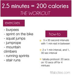 fit workout, burn workout, calori workout, 200 calories, exercis