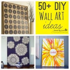 Over 50 Easy Wall Art DIY Ideas You Can Make