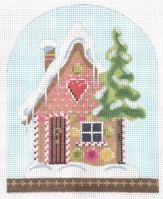 """Christmas Snowdome- Gingerbread House Style: KH401 Size: 4"""" x 5 3/8"""" Mesh: 18"""