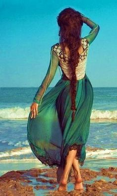 angles, fashion, color, the ocean, long hair