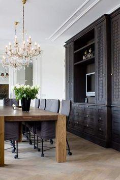 Maison belle tv inspiration on pinterest tv cabinets for Klassiek modern interieur