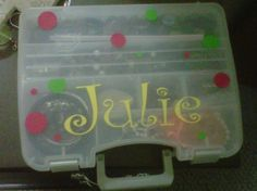 travel jewelry box.. a simple tackle box and some vinyl