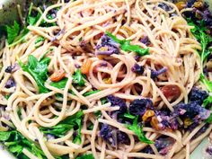 Spaghetti with Purple Cauliflower Sauce.