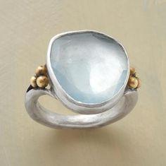 style, accessori, aquamarines, adorn, scintilla ring