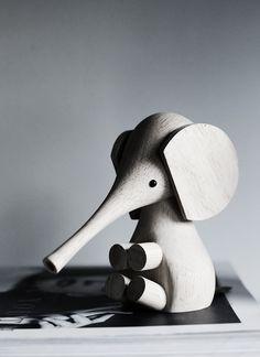 wooden elephant toy