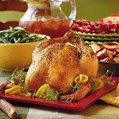 Lemon-Thyme Roasted Chicken | MyRecipes.com