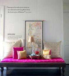 color mix, color schemes, bench, nook, hallway, entryway, bright colors