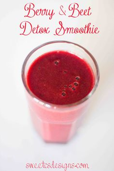 Berry and Beet Detox Smoothie- a delicious, vegetable and fruit packed powerhouse! #vitamix #smoothie #detox