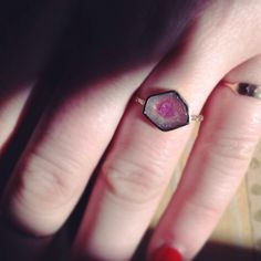 Digby and Iona Watermelon Tourmaline Ring, available at Catbird.