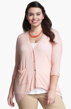 Painted Threads High/Low Cardigan (Juniors Plus) | Nordstrom