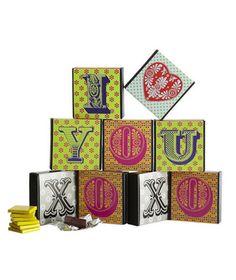 Valentine's Day Gift Idea: TCHO Alphabites Chocolate Box