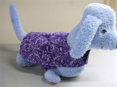 $24.00 XXSmall Dog Coat, Purple Batik, Tailored Traditional Style, Lined, Other Sizes Available