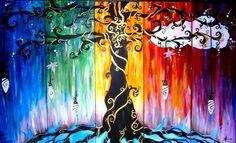 all kinds of beautiful rainbow trees tagged on Tumblr