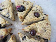 Blueberry Lavender Scones (Gluten/Dairy/Soy/Corn/Grain/Refined Sugar Free.) #GF
