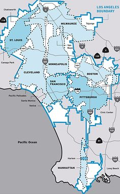 Comparison of other major cities that can fit inside LA | News | Archinect