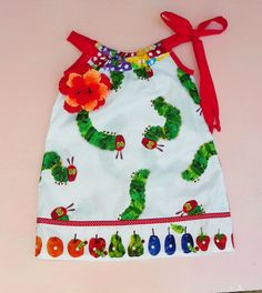 Very Hungry Caterpillar Pillowcase Dress by WildOliveKids on Etsy