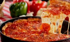 Pizano's on State Street is near the store and an authentic ambiance of old-school Chicago deep dish style! – The BHLDN Chicago team