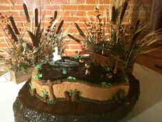 Duck hunting and fishing grooms cake by CAKES BY LAUREN, via Flickr