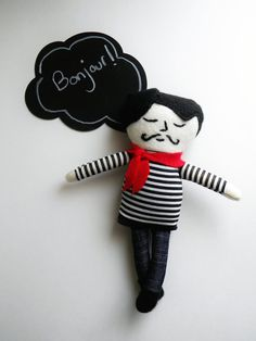 Monsieur Pascal Doll by thatgirl99 on Etsy, $25.00
