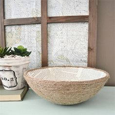 Comes see how to take an old ugly bowl & turn it into something custom & unique with book pages & rope.