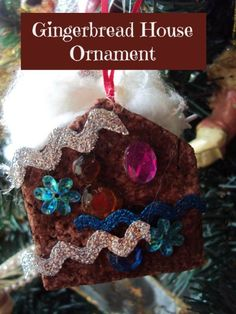 gingerbread house ornament - happy hooligans