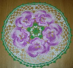 Pansy doily by tina_mancuso, via Flickr