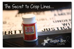 the secret to crisp lines when painting over vinyl...