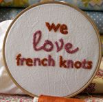 how to tie a french knot