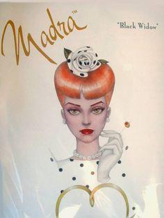 Madra BLACK WIDOW Gene Doll by Mel Odom