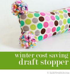 Cute DIY Draft Stopper to stop a Winter draft through your door via @Diane Henkler {InMyOwnStyle.com}