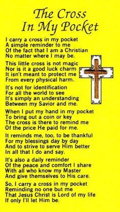 Prayer card cross in my pocket 15 pkg craft ideas for Cross in my pocket craft