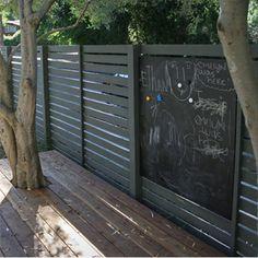 how to make a chalkboard wall outside