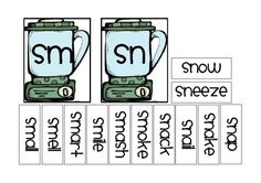 Super cute little blender sorts and recording sheets for lots of consonant blends!   # Pinterest++ for iPad #