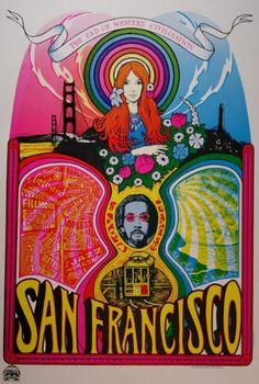 skulls, hippie, 1966, art, 60s psychedelia, skeletons, posters, san francisco, sugar