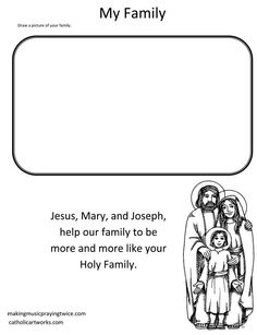 Holy Family activity printable