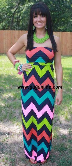 Crazy Beautiful Life Navy Chevron Maxi Dress www.gugonline.com $44.95