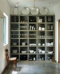 Love this alternative kitchen storage