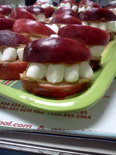 fun snack to make after reading Grandpa's Teeth or during dental health unit