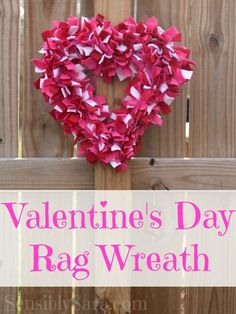 Craft: Valentine's Rag Wreath