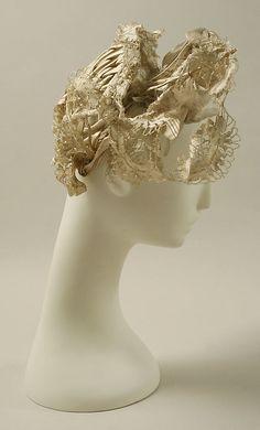 Hat    Date:      1830s  Culture:      French  Medium:      silk  Dimensions:      Diameter: 7 in. (17.8 cm)