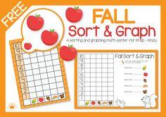 Super cute Autumn/Fall sort and graph activity FREE!! #teacherspayteachers #busylittlebugs #freebies