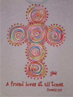 Brushfire Designs Lite Pink SS Friends Love T-shirt