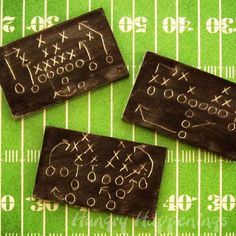 Super Bowl Sweet - Football Plays on Chocolate Chalkboards