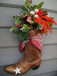 Make a ski boot and use it in the garden club show