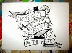 cats, anim, crazi cat, stuff, meow, catladi, cat tattoo, kitti, cat ladi