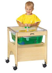 See-thru sensory table- Comes with a Lego compatible lid!