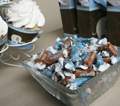 Blue and Brown Frooties Mini Tootsie Rolls